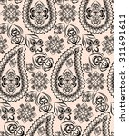 seamless pattern with paisley.... | Shutterstock .eps vector #311691611
