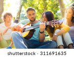 Young Friends With Guitar...