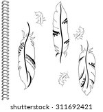 feathers vector ethnic patterns ... | Shutterstock .eps vector #311692421