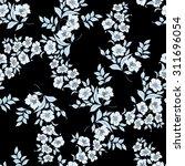 twig sakura blossoms. vector... | Shutterstock .eps vector #311696054