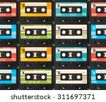 cassette tape seamless... | Shutterstock .eps vector #311697371