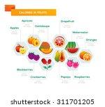 fruit calories consistency... | Shutterstock .eps vector #311701205