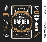 barber shop design elements set ... | Shutterstock .eps vector #311703011