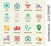 hospital elements  vector...   Shutterstock .eps vector #311705987