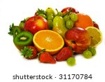 fresh juicy fruits isolated on... | Shutterstock . vector #31170784
