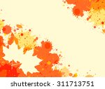 bright orange watercolor paint...