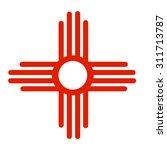 ancient sun symbol of the zia ... | Shutterstock .eps vector #311713787