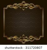 retro vector gold frame on dark ... | Shutterstock .eps vector #311720807