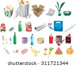 recycling and garbage elements | Shutterstock .eps vector #311721344