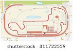 indianapolis motor speedway map | Shutterstock .eps vector #311722559