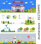 flat infographic gasoline... | Shutterstock .eps vector #311724995