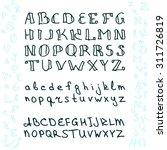 vector hand drawn alphabet in... | Shutterstock .eps vector #311726819