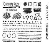 set of grunge vector charcoal... | Shutterstock .eps vector #311727164