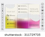 tri fold brochure mock up... | Shutterstock .eps vector #311729735