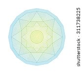 color line art geometric... | Shutterstock .eps vector #311738225