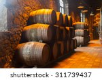 cellar with row of traditional  ... | Shutterstock . vector #311739437