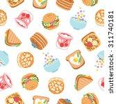 breakfast yummy food seamless... | Shutterstock .eps vector #311740181
