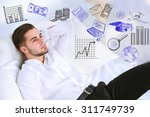 young business man thinking of... | Shutterstock . vector #311749739