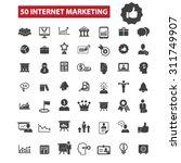 50 internet marketing black... | Shutterstock .eps vector #311749907