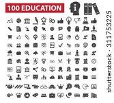 100 education black isolated... | Shutterstock .eps vector #311753225