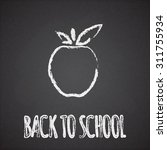 Back To School Sign And Apple...