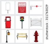 vector street element icons set....   Shutterstock .eps vector #311763029