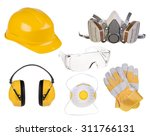 safety equipment isolated on...   Shutterstock . vector #311766131