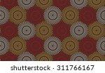 polka dot ethnic pattern.... | Shutterstock .eps vector #311766167