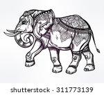 hand drawn ornate elephant. ...   Shutterstock .eps vector #311773139
