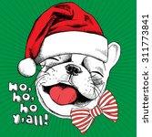 christmas card. portrait of... | Shutterstock .eps vector #311773841