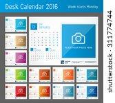 desk calendar for 2016 year.... | Shutterstock .eps vector #311774744