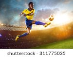 afro american soccer player in... | Shutterstock . vector #311775035