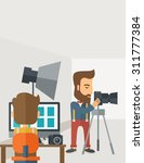 a photography studio with a... | Shutterstock .eps vector #311777384