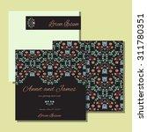 vintage card or wedding... | Shutterstock .eps vector #311780351