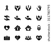 charity icon. donation icon.... | Shutterstock .eps vector #311780795