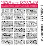 mega set of doodles. super... | Shutterstock .eps vector #311785049