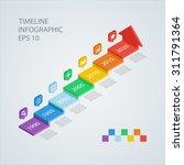 isometric timeline infographic... | Shutterstock .eps vector #311791364