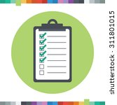checklist icon with checked and ... | Shutterstock .eps vector #311801015