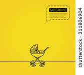 Pram Icon. Newborn Stroller...
