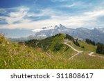 the top view of mountain ridge...   Shutterstock . vector #311808617