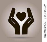 heart and hands | Shutterstock .eps vector #311811869
