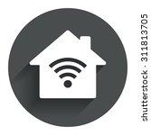 home wifi sign. wi fi symbol....