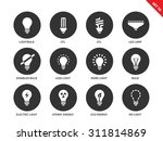 light and bulbs vector icons... | Shutterstock .eps vector #311814869