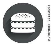 hamburger icon. burger food...