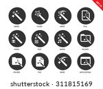 magic and mystery vector icons...