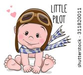 cute cartoon baby boy in a... | Shutterstock .eps vector #311820011