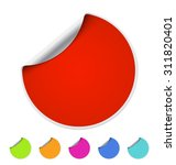 red blank self adhesive paper...   Shutterstock .eps vector #311820401