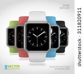 set of 5 modern shiny sport...   Shutterstock .eps vector #311820911