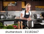 pretty young woman working in a ...