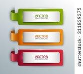 vector banners set. | Shutterstock .eps vector #311829275